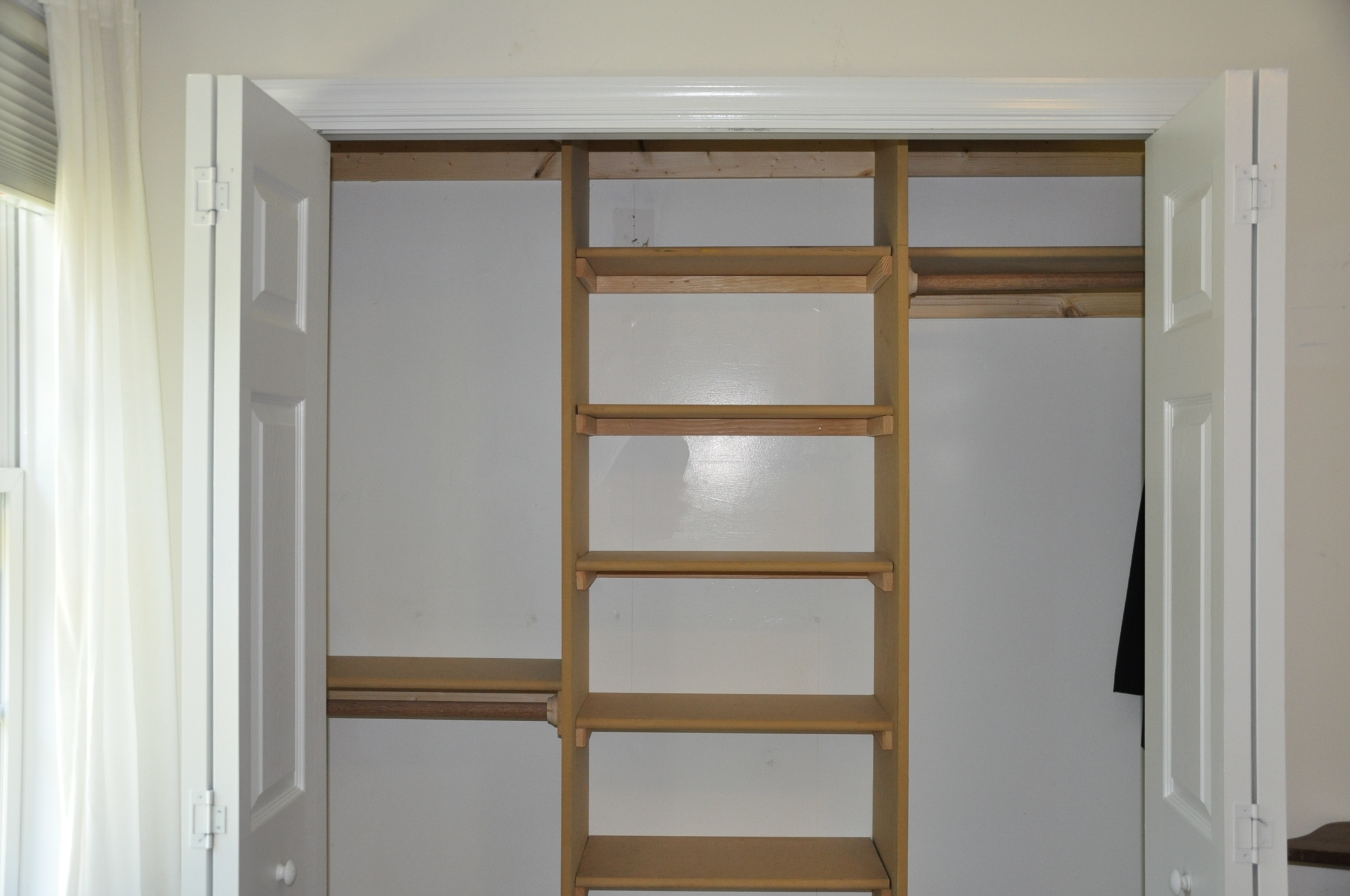 Reach In Closet Design Ideas good idea for reach in closets put up closet rods on the sides if Small Bedroom Closet Design Remodel Interior Planning House Ideas