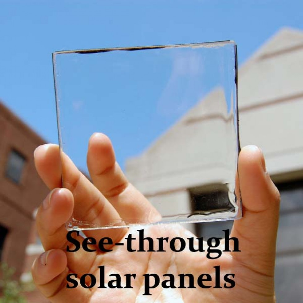 See through solar energy